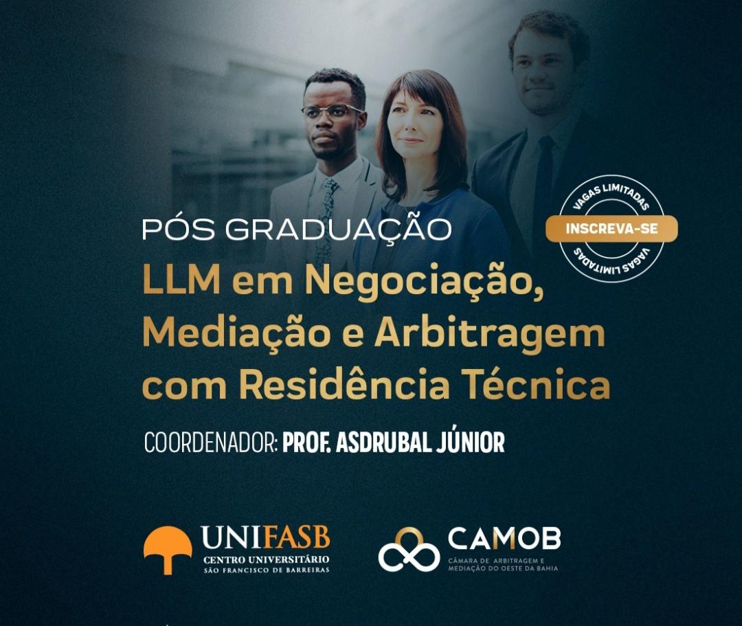 Pós-Graduação LLM em Negociação, Mediação e Arbitragem com Residência Técnica